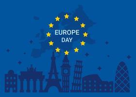 Vector del día de Europa
