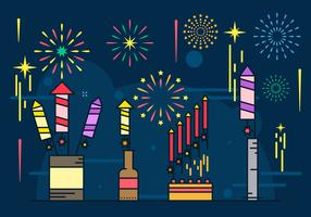 Illustration de fond de feux d'artifice