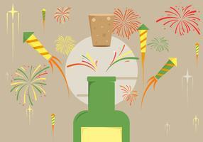 Feuerwerk Hintergrund Illustration