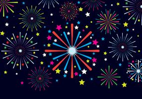 Illustration vectorielle de feux d'artifice