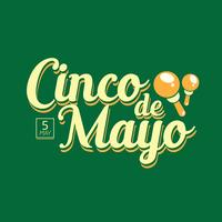 Lettrage à la main du vecteur Cinco de Mayo