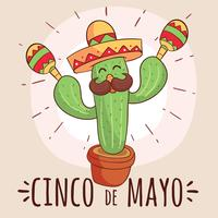 Grappige Cinco De Mayo Vector