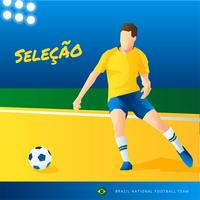 Vector de jugador de fútbol de Brasil