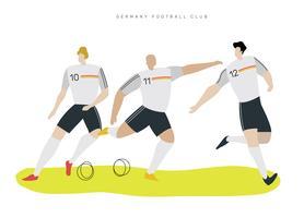 Duitse voetbal karakter platte vectorillustratie
