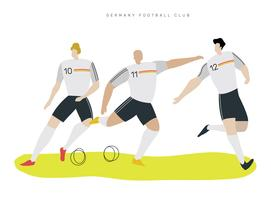 German Soccer Character Flat Vector Illustration