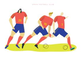 Spanish Soccer Characters Vector Flat Illustration