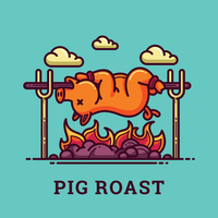 Pig Roast Illustration