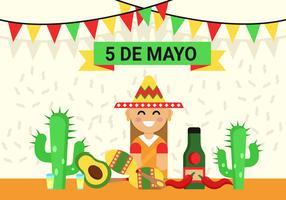 Ilustración de fondo del Cinco de Mayo