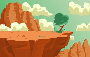 Illustration de paysage de vecteur de désert