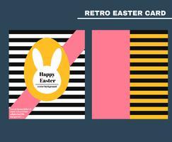Vector de tarjeta de Pascua retro