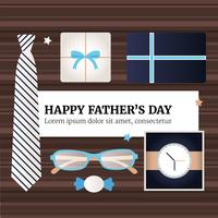 Vector Happy Fathers Day Greeting Card