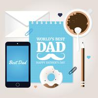 Vector la mejor tarjeta de felicitación del papá