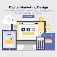 Vector Digital Marketing Design Illustration