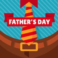 Heureuse fête des pères Design Vector