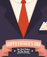 Illustration de bonne fête des pères