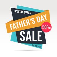 Father's Day Sale Banner Vector