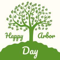 Glücklicher Tag des Baumes