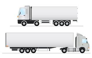 Diseño vectorial de camiones realistas
