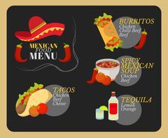 Delizioso cibo messicano vettoriale