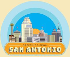 Salutations de San Antonio Vector