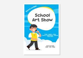 Affiche d'exposition d'art d'école