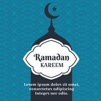Vector de fondo Ramadan Kareem