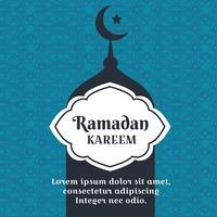 Vecteur de fond Ramadan Kareem