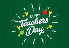 Teachers Day Lettering on Board