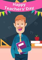 Happy Teachers Day Celebration vector