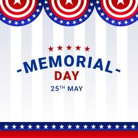 Memorial Day Decoratie Vector