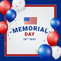 Memorial Day-Schablonen-Vektor