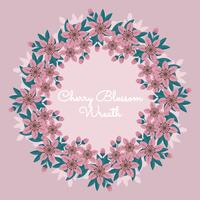 Vector Cherry Blossom Wreath