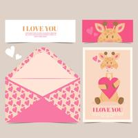 Vector Cute Giraffe Card