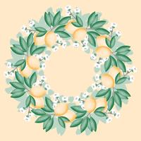 Vector Lemon Wreath