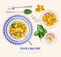 Vector Pasta Recipe