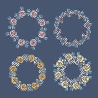 Vector floral coronas