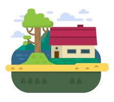 casa da família plana