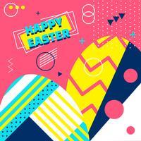 Glücklicher Ostern-Hintergrund-Vektor