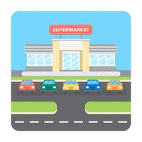 Supermarkt-Illustration