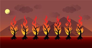 brinnande flammar vektor
