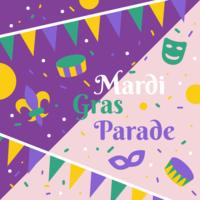 vettore di parata di mardi gras