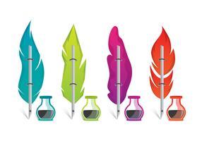 Set de vecteur de stylo Scribe