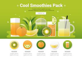 Vector verse gezonde smoothies