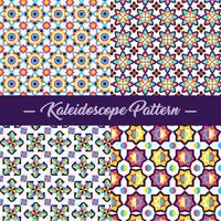 Vector de patrón de caleidoscopio abstracto