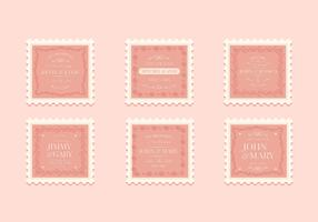 Vintage Wedding Stamp Collection vector