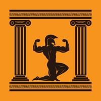 Hercules mythologie karakter illustratie