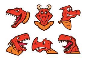 Kostenlose Dinosaurier Logo Vector