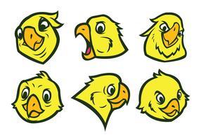 Freier Papageien-Logo-Vektor