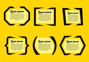 Quotation Mark Text Bubble Vector Sets