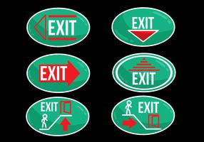 Emergency Exit Oval Sign vector